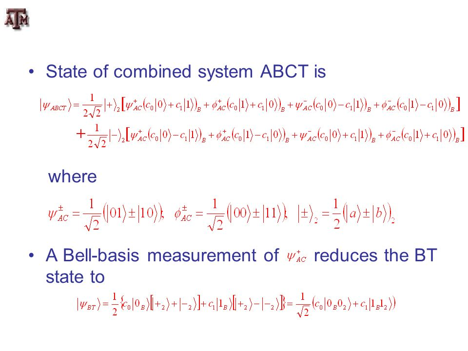 State of combined system ABCT is