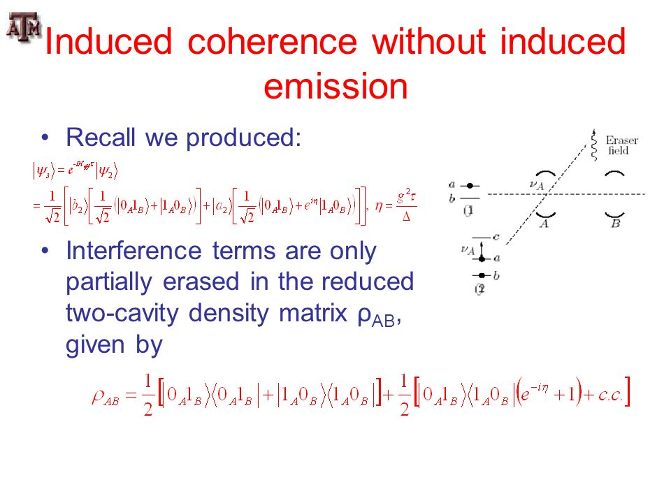 Induced coherence without induced emission