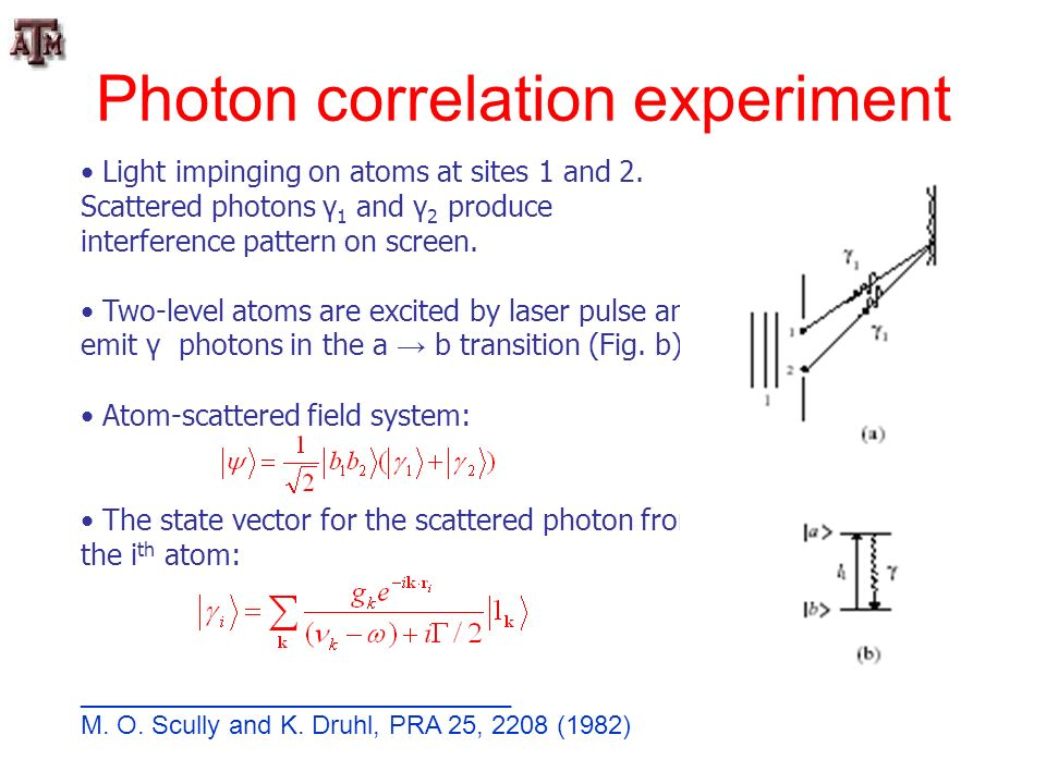 Photon correlation experiment