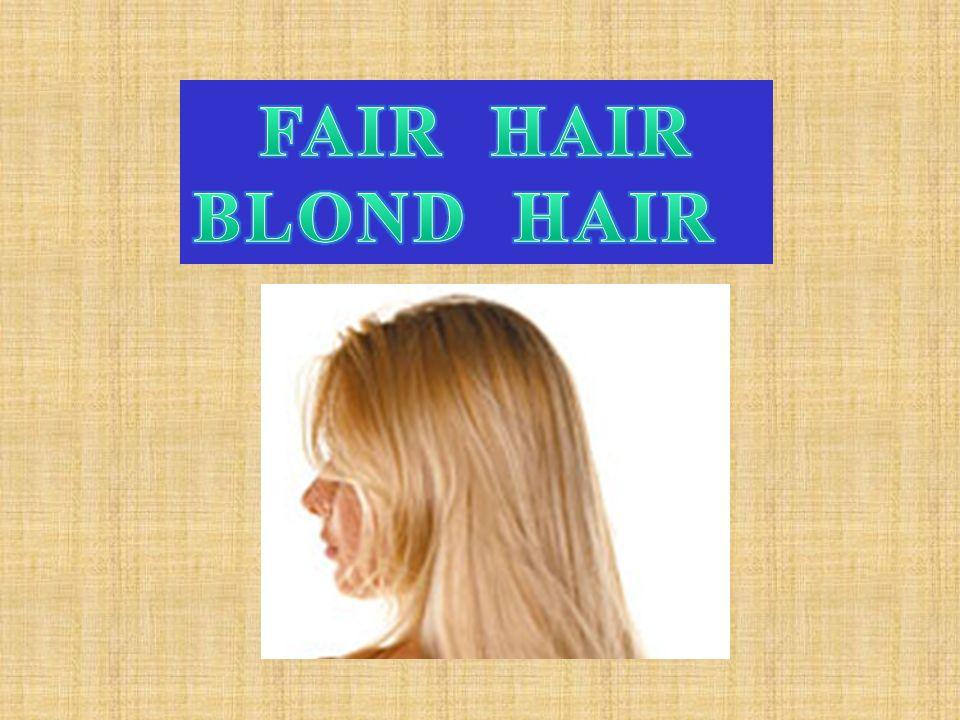 FAIR HAIR BLOND HAIR