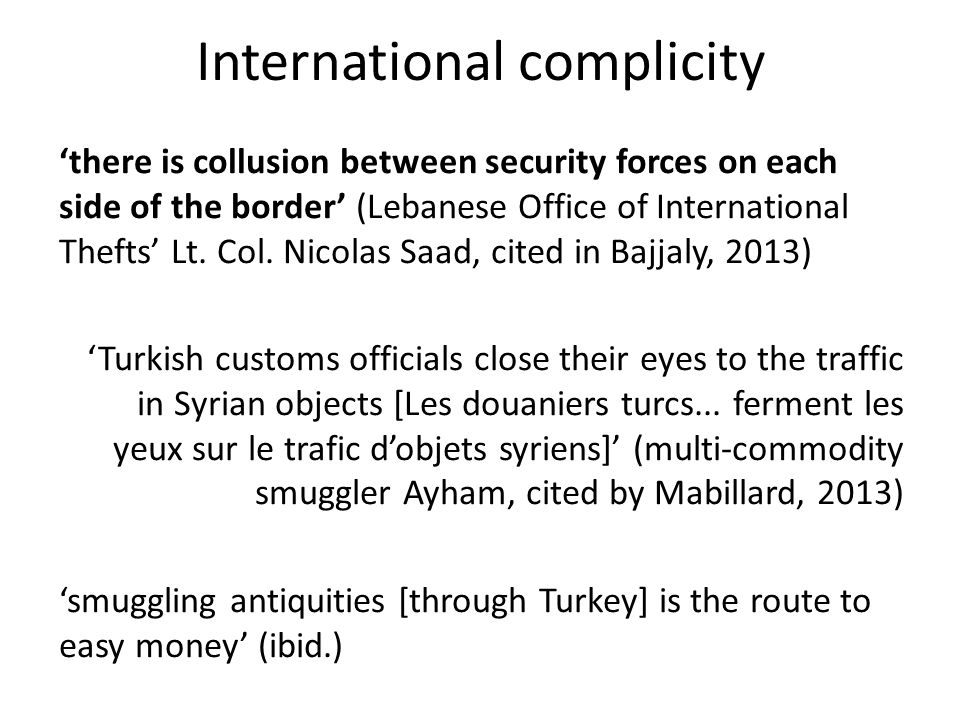 International complicity