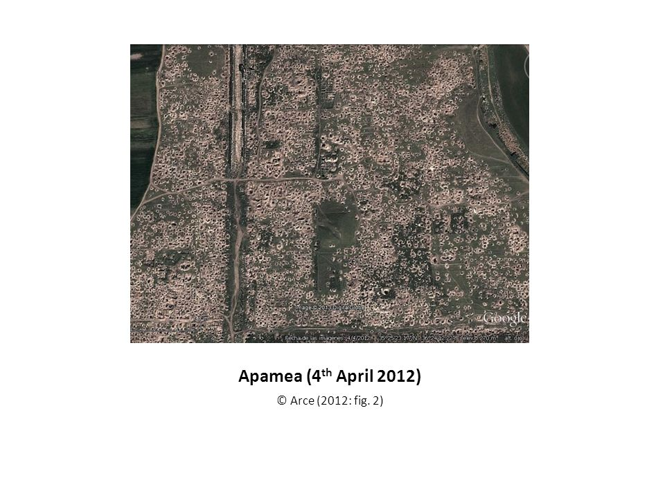 Apamea (4th April 2012) © Arce (2012: fig. 2)