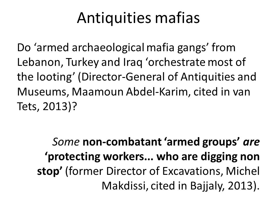 Antiquities mafias