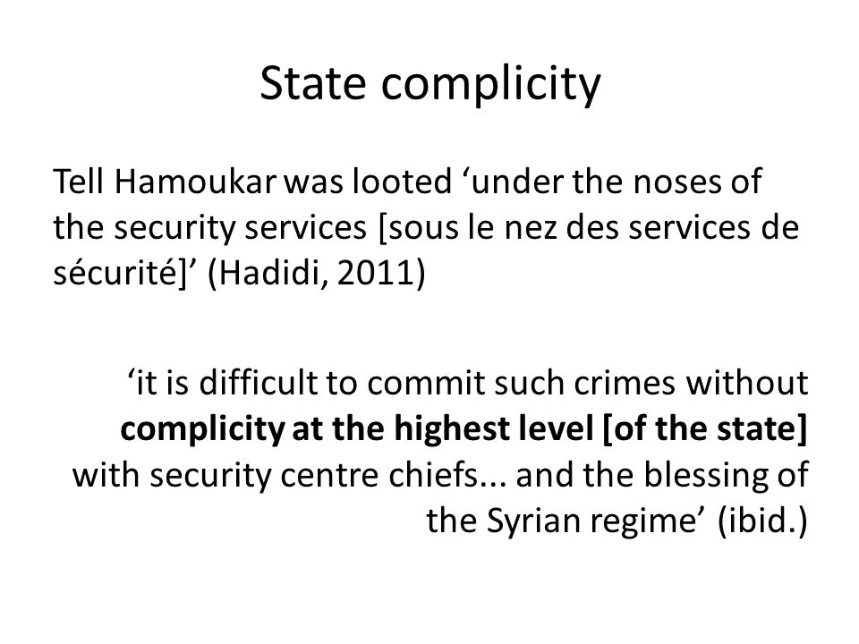 State complicity
