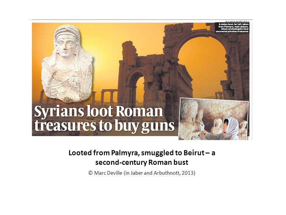 Looted from Palmyra, smuggled to Beirut – a second-century Roman bust