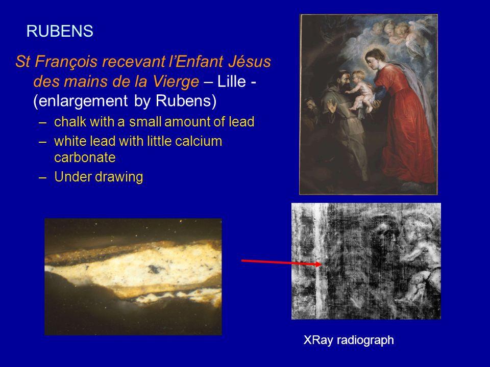 RUBENS St François recevant l'Enfant Jésus des mains de la Vierge – Lille - (enlargement by Rubens)