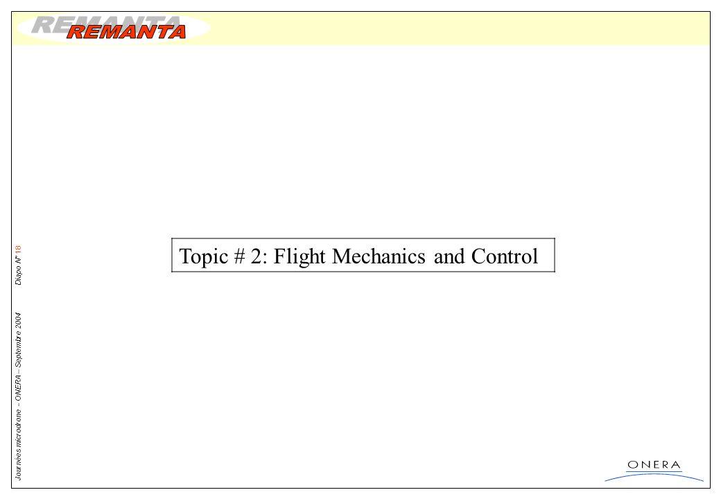 Topic # 2: Flight Mechanics and Control