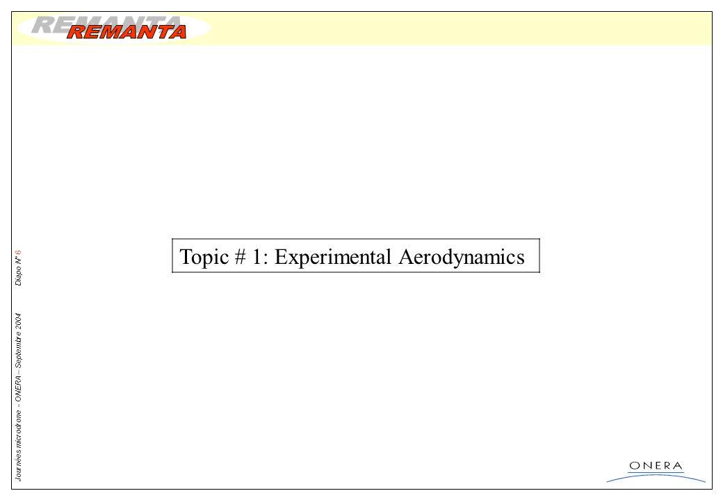 Topic # 1: Experimental Aerodynamics