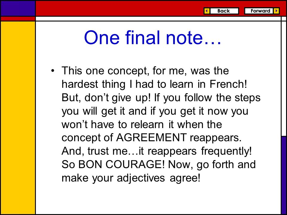 One final note…