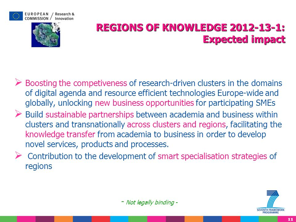 REGIONS OF KNOWLEDGE 2012-13-1: Expected impact