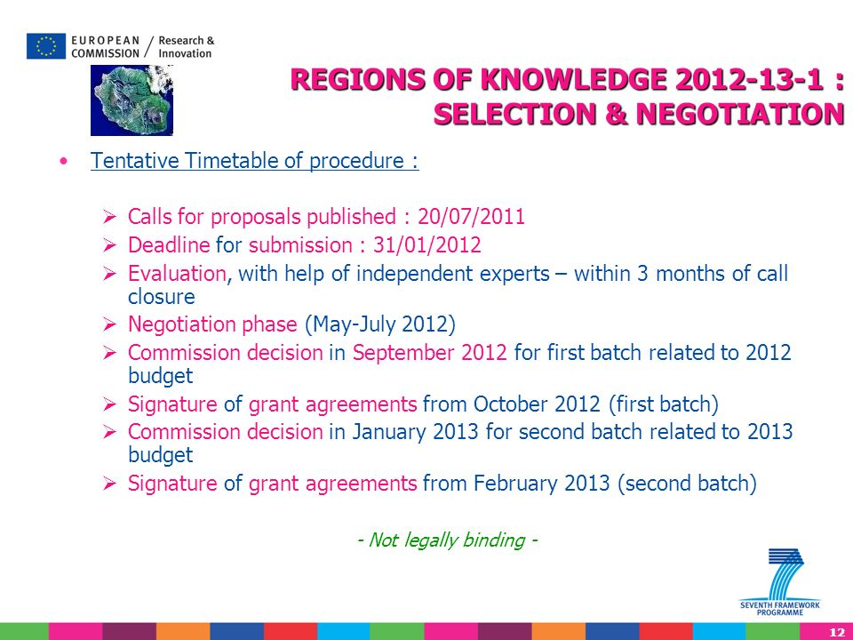 REGIONS OF KNOWLEDGE 2012-13-1 : SELECTION & NEGOTIATION