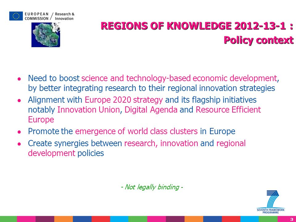REGIONS OF KNOWLEDGE 2012-13-1 : Policy context