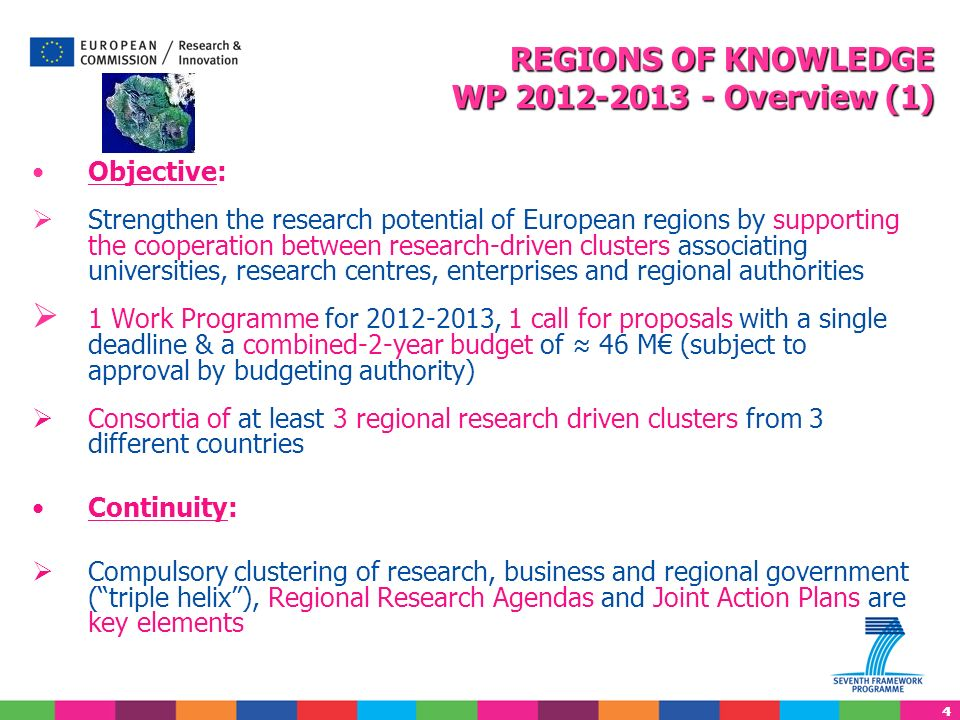 REGIONS OF KNOWLEDGE WP 2012-2013 - Overview (1)