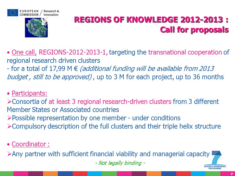 REGIONS OF KNOWLEDGE 2012-2013 :