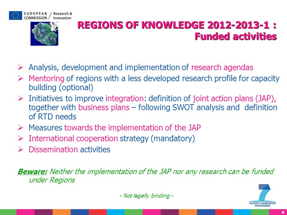 REGIONS OF KNOWLEDGE 2012-2013-1 : Funded activities