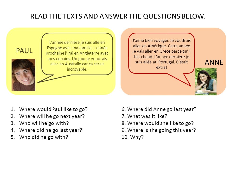 READ THE TEXTS AND ANSWER THE QUESTIONS BELOW.