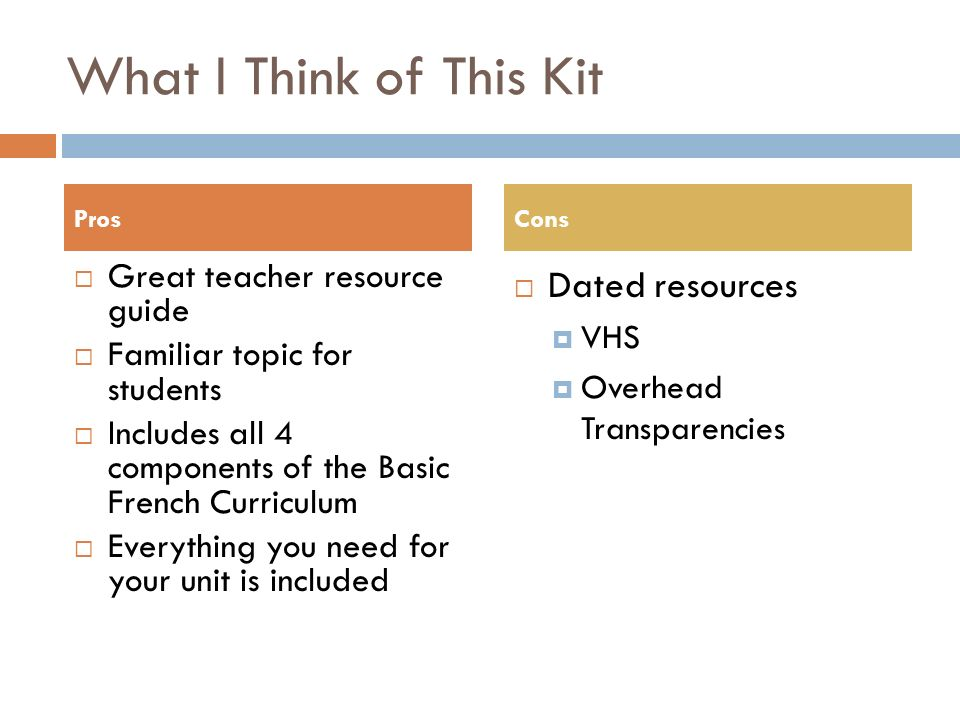 What I Think of This Kit Dated resources Great teacher resource guide