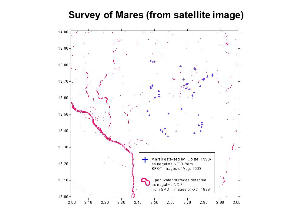 Survey of Mares (from satellite image)