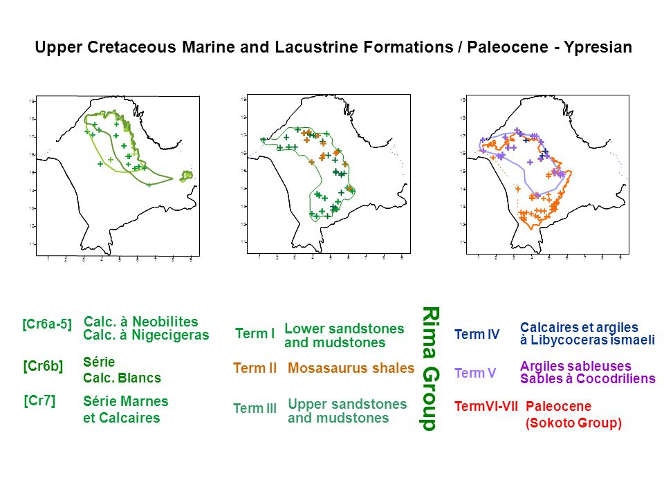 Upper Cretaceous Marine and Lacustrine Formations / Paleocene - Ypresian
