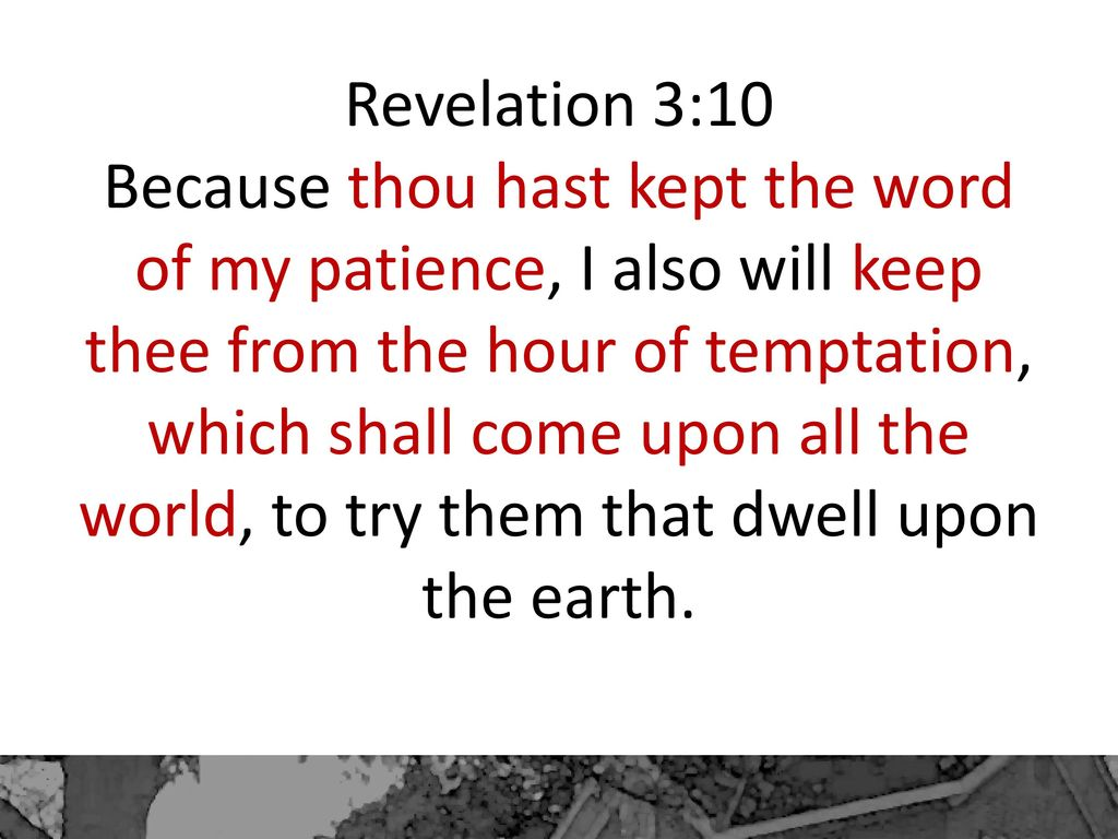 Dont live in never never land ppt download 9 revelation 310 because thou hast kept the word of my patience altavistaventures Gallery