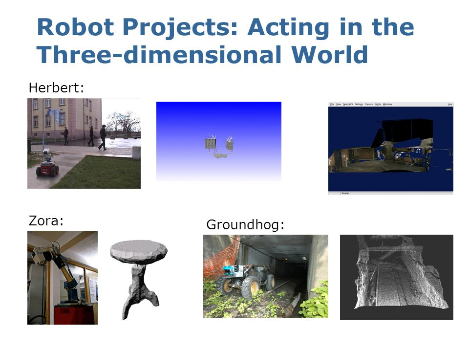 Robot Projects: Acting in the Three-dimensional World
