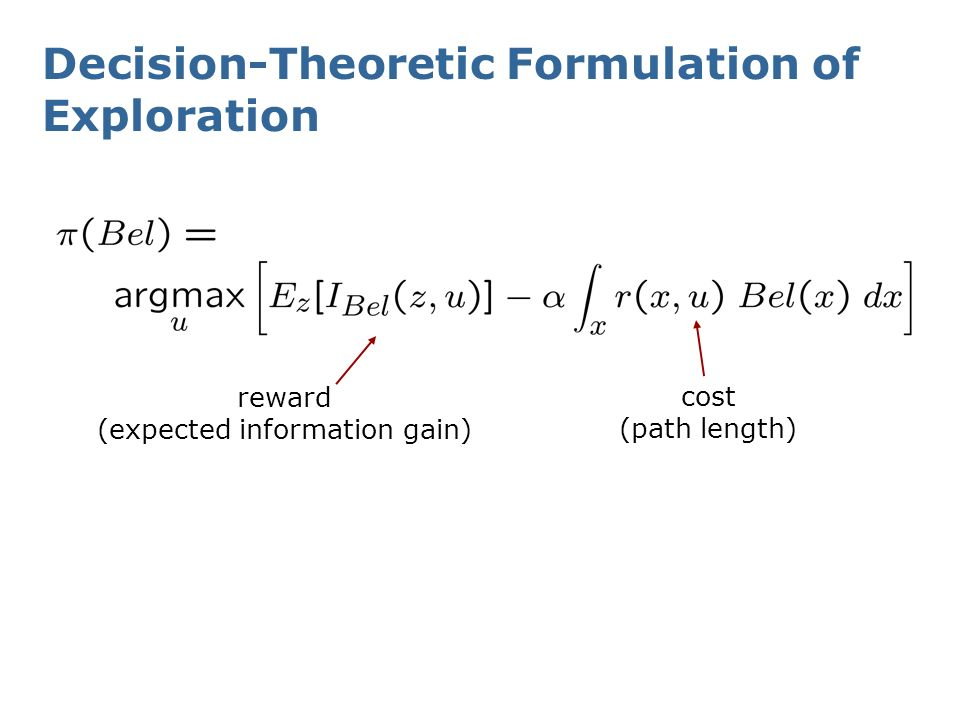 Decision-Theoretic Formulation of Exploration