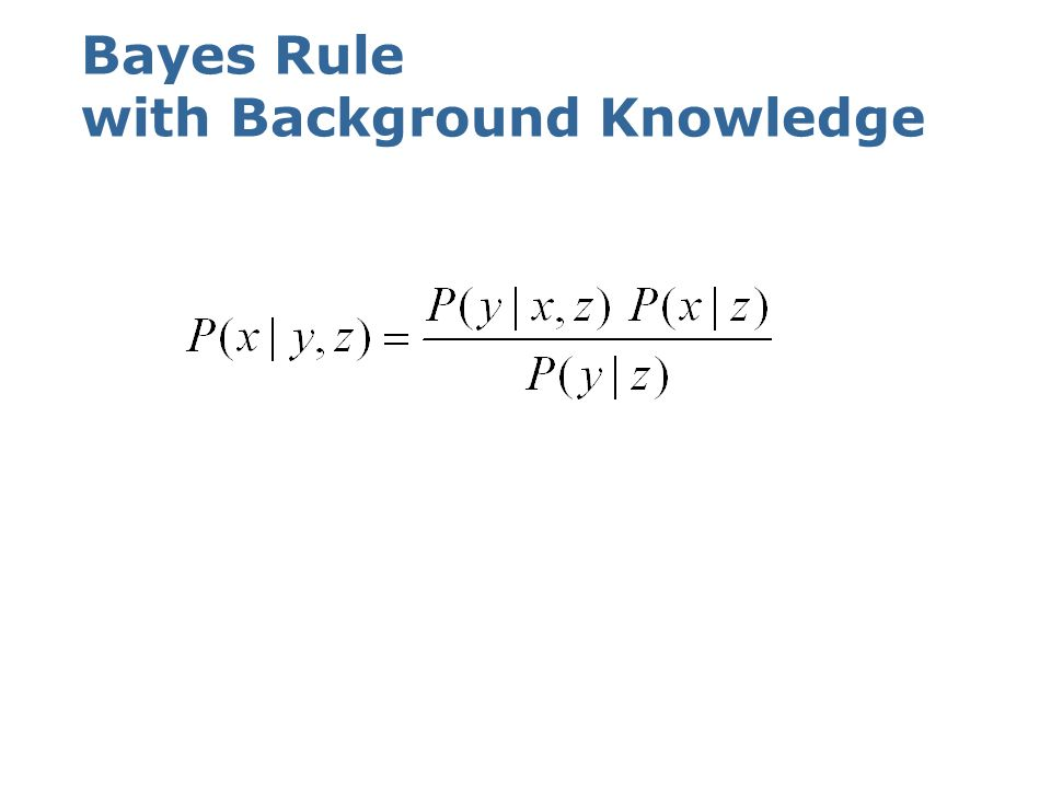 Bayes Rule with Background Knowledge