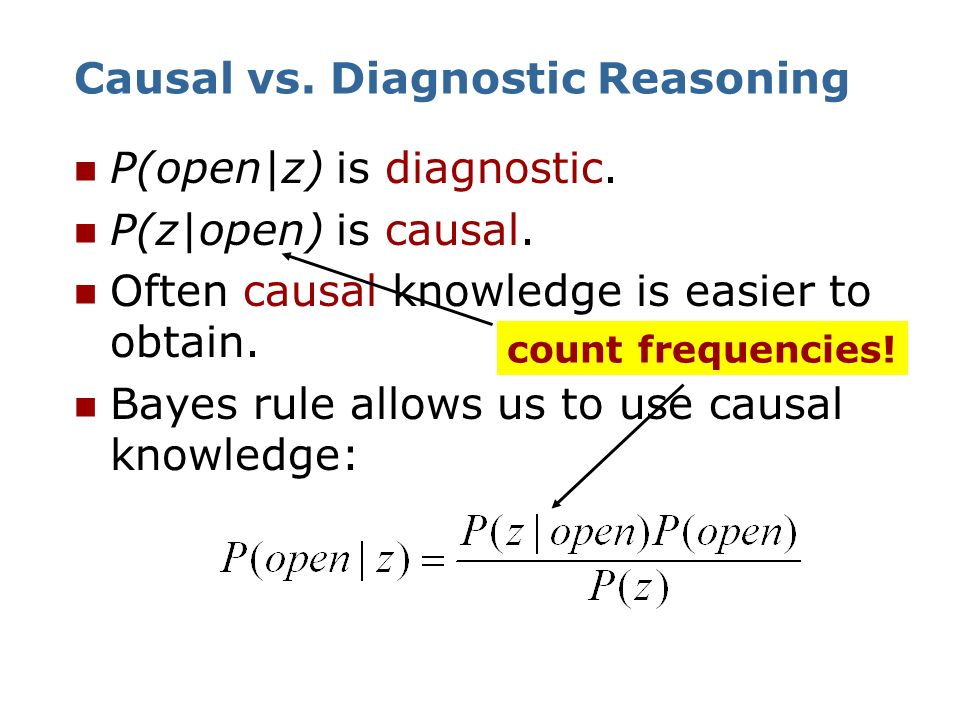 Causal vs. Diagnostic Reasoning