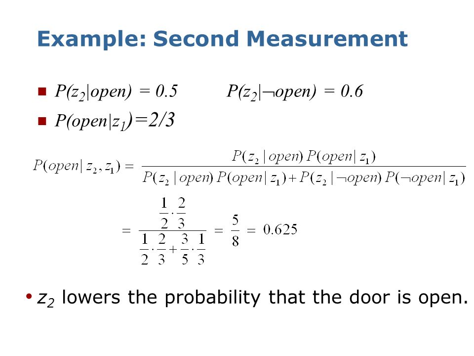 Example: Second Measurement