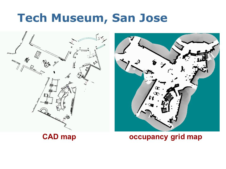 Tech Museum, San Jose CAD map occupancy grid map