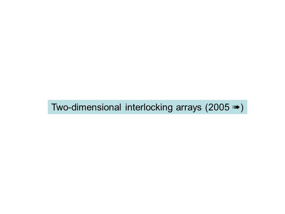 Two-dimensional interlocking arrays (2005 ➠)