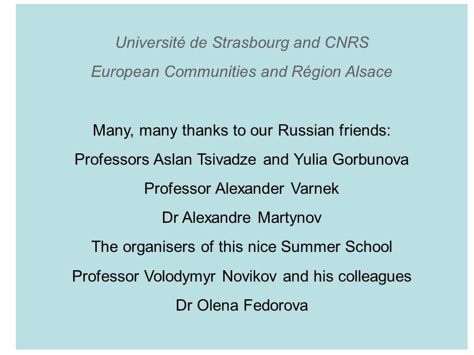 Université de Strasbourg and CNRS