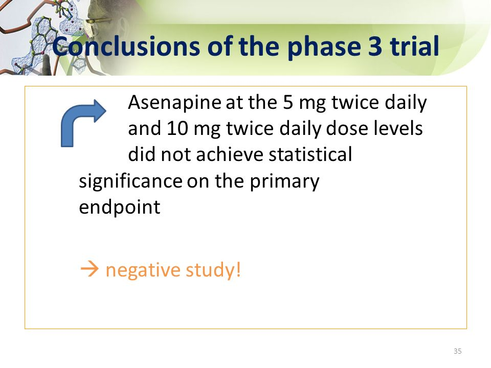 Conclusions of the phase 3 trial