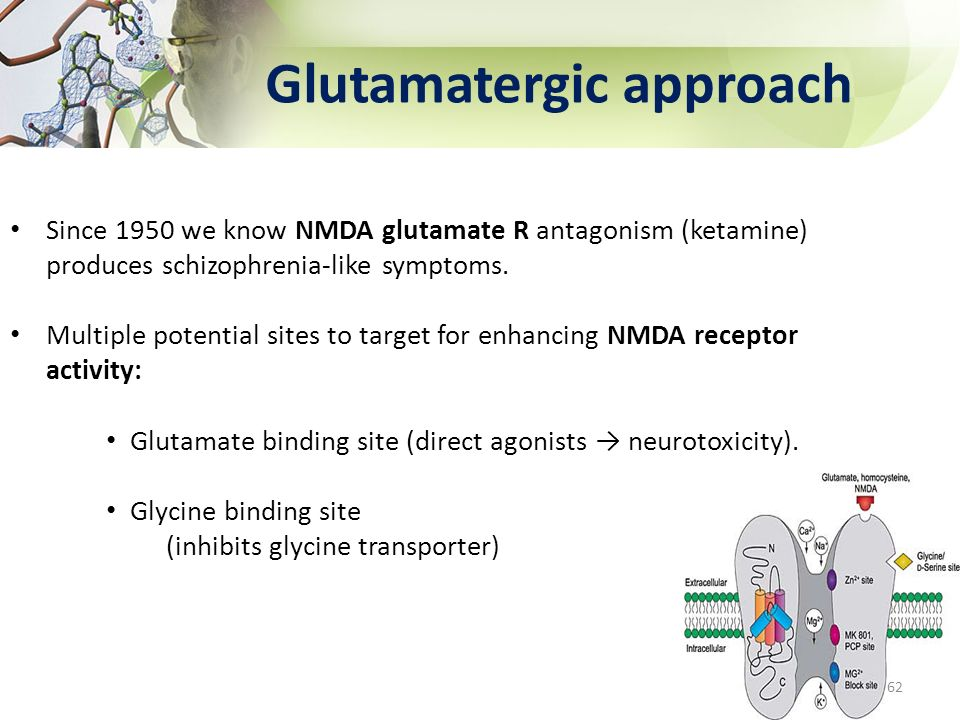 Glutamatergic approach