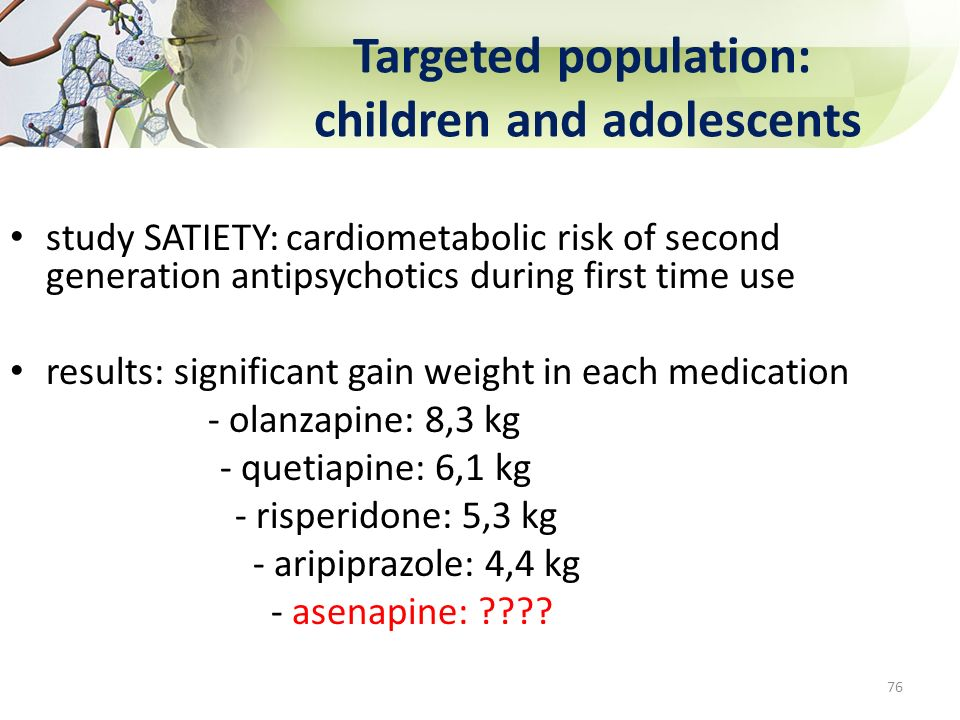 Targeted population: children and adolescents