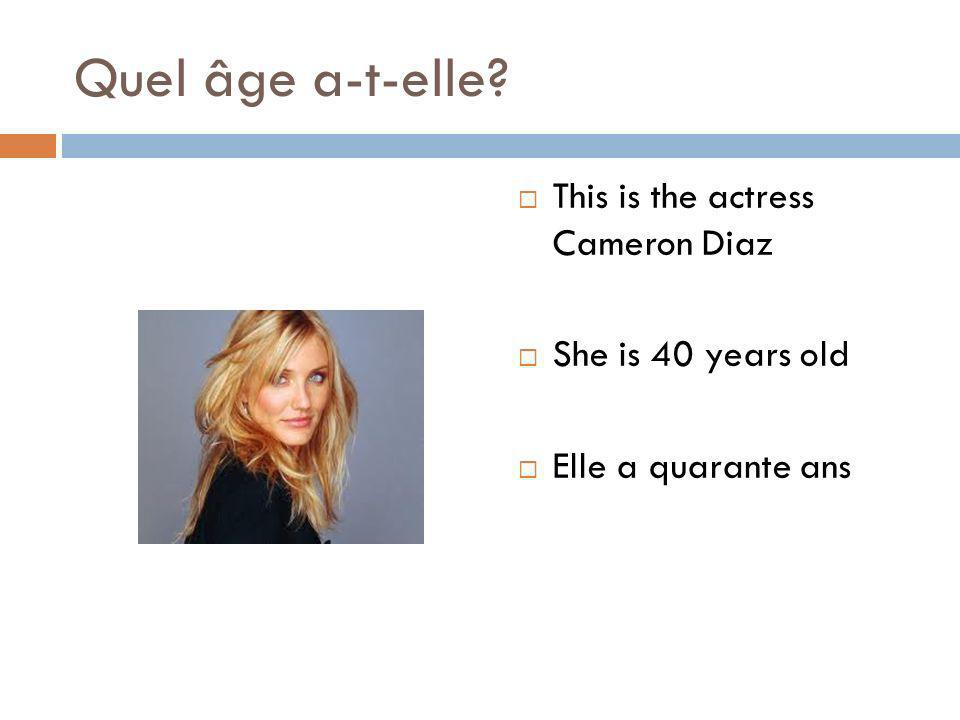 Quel âge a-t-elle This is the actress Cameron Diaz