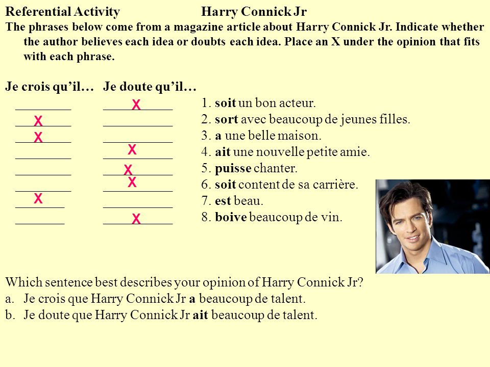 Referential Activity Harry Connick Jr