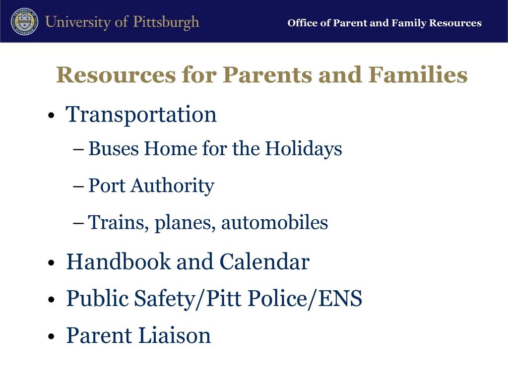 Parents Get To Know Pitt Ppt Download