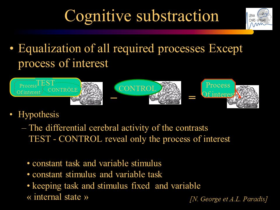 Cognitive substraction