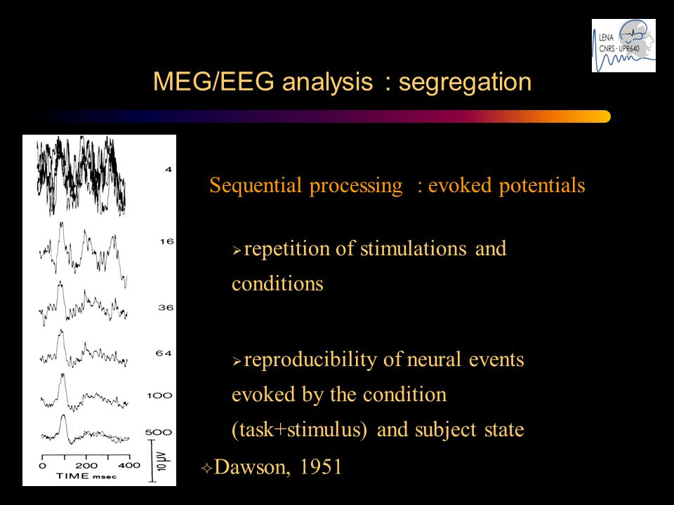 MEG/EEG analysis : segregation