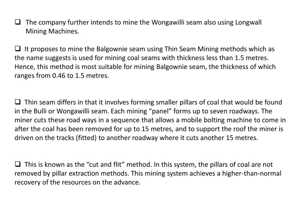 wongawilli system in mines