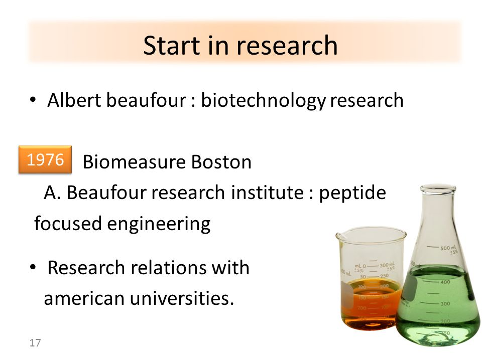 Start in research Albert beaufour : biotechnology research