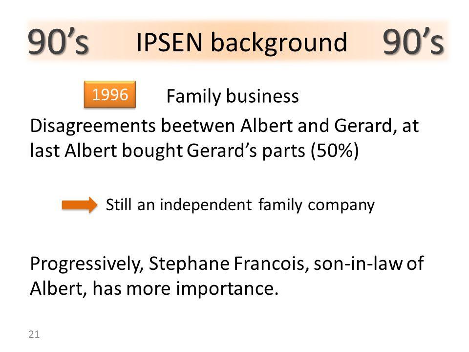 90's 90's IPSEN background Family business
