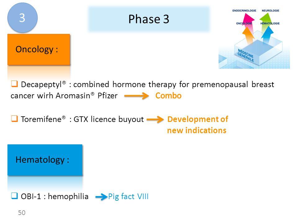 3 Phase 3 Oncology : Hematology :