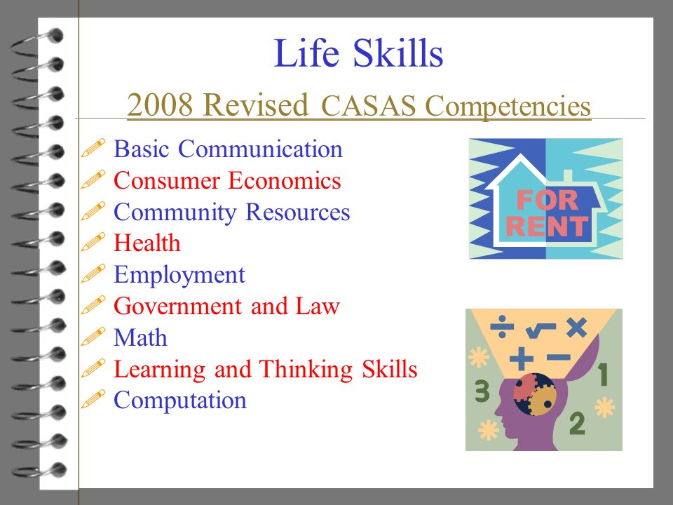 Life Skills 2008 Revised CASAS Competencies