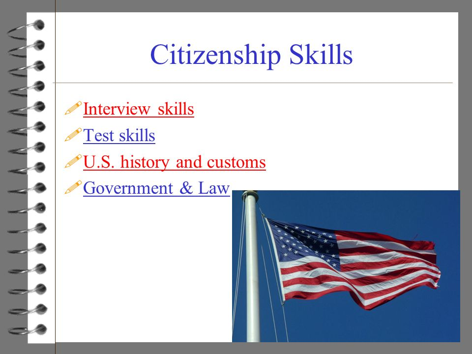 Citizenship Skills Interview skills Test skills