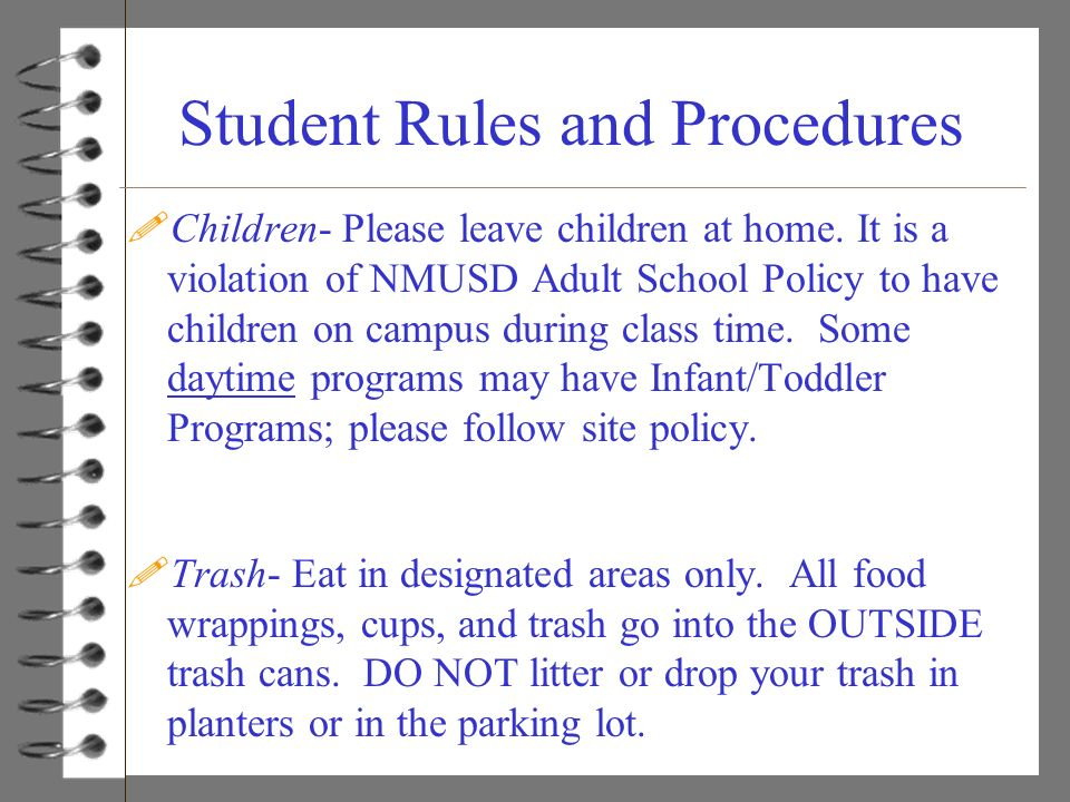 Student Rules and Procedures