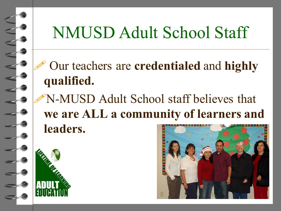 NMUSD Adult School Staff