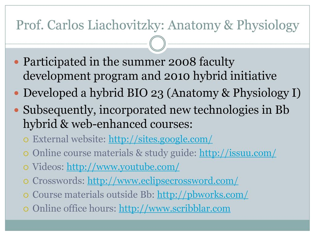 Hermosa Hybrid Anatomy And Physiology Courses Bandera - Anatomía de ...