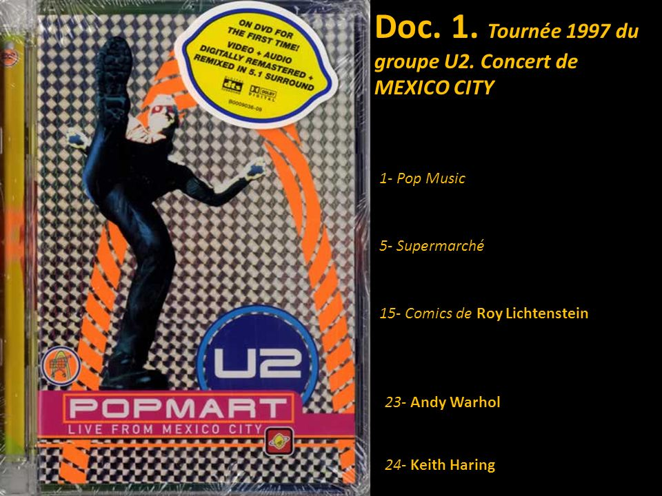 Doc. 1. Tournée 1997 du groupe U2. Concert de MEXICO CITY